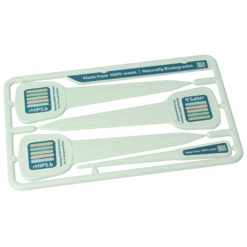 Recycled Biodegradable Plastic Plant Marker Kits in Seaweed with custom print by Total Merchandise