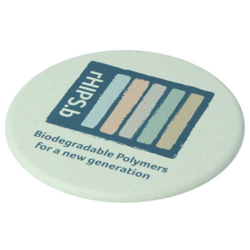 Promotional Recycled Biodegradable Plastic Coasters in Seaweed colour by Total Merchandise