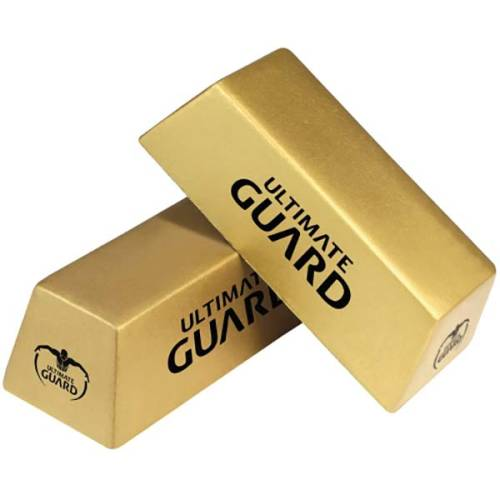 Promotional printed Stress Gold Bar with company logo printed in 1 colour from Total Merchandise