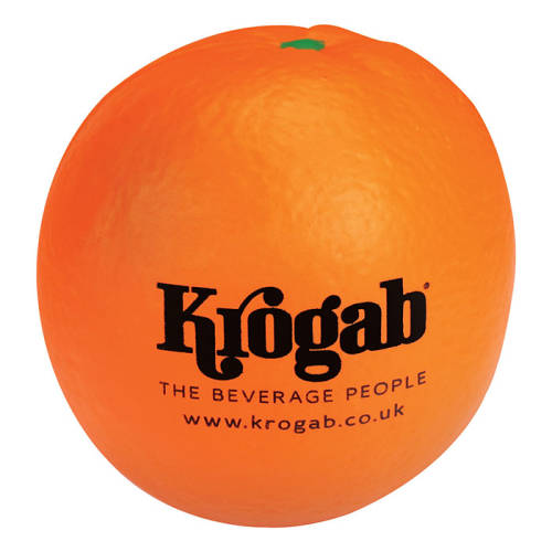Promotional Stress Orange for with a logo printed top 1 side from Total Merchandise
