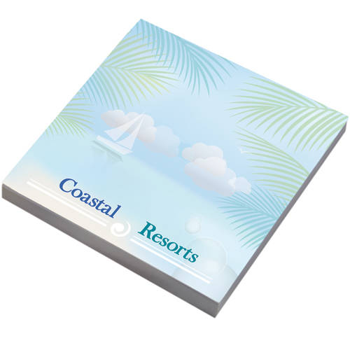 Custom printed eco-friendly Eco 3 x 3 BiC Sticky Notes from Total Merchandise