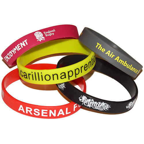 Promotional Silicone Wristbands Pantone Matched and Printed with a Logo by Total Merchandise