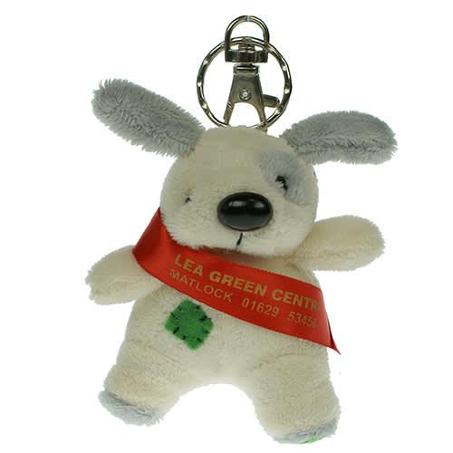 Keychain Dog in Cream