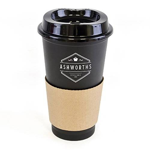 Promotional 500ml Paper Sleeve Take Away Mugs for Office Giveaways
