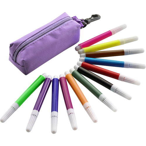 Promotional Mini Felt Tip Pen Set with all the pen colours on show from Total Merchandise