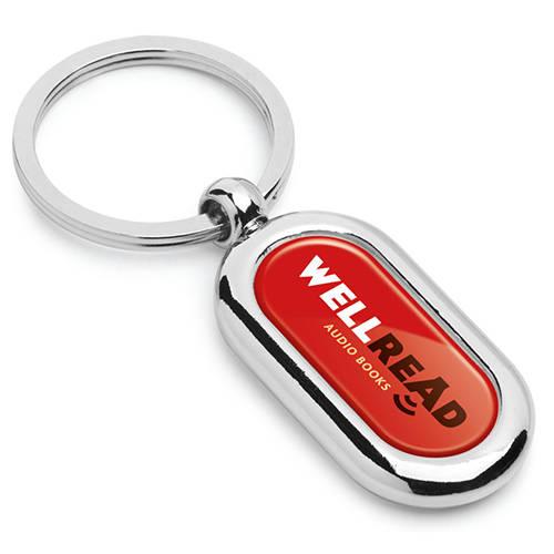 Printed Galaxy Metal Keyrings for Business Merchandise