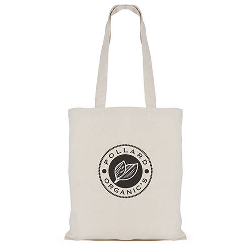 Branded 7oz Long Handle Cotton Bags printed with logo from Total Merchandise
