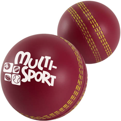 Promotional printed Stress Cricket Balls available in red from Total Merchandise