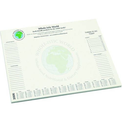 A3 Recycled Desk Pads in White