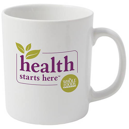 Corporate branded Cambridge Mug in white from Total Merchandise
