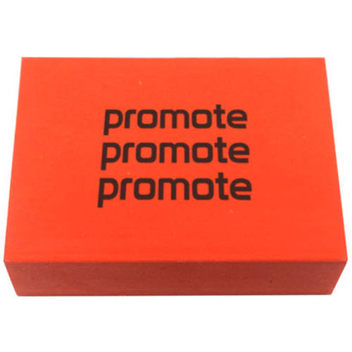 Promotional Chunky Erasers in red from Total Merchandise