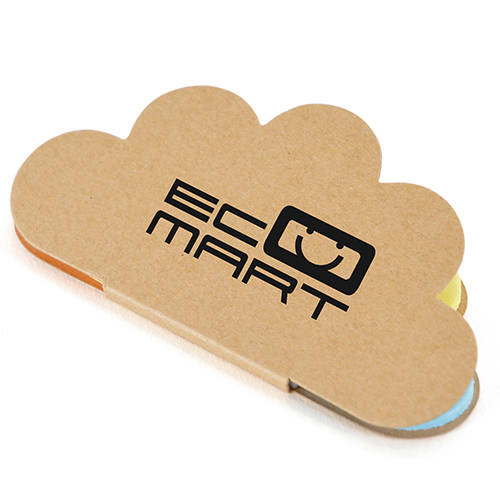 Promotional Cloud Sticky Note Booklets for Office Marketing