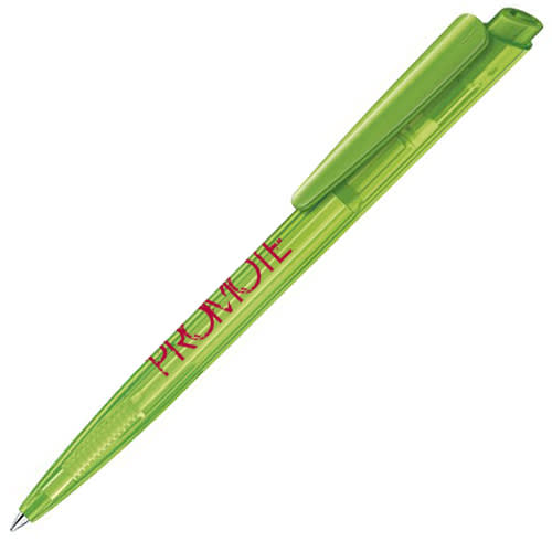 Corporate Branded Dart Clear Ballpen in Light Green with Printed Logo from Total Merchandise