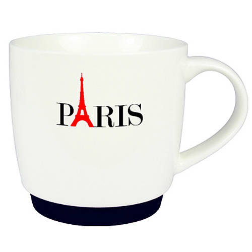 Paris Silicon Base Promotional Mugs in White From Total Merchandise