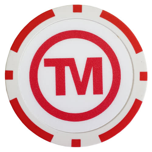 Poker Chips in White/Red
