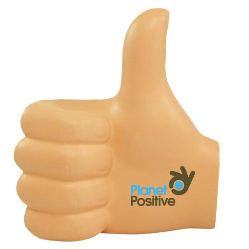 Promotional Stress Thumbs Up for Marketing Campaigns