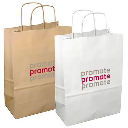 Printed Paper Bags With Your Logo For Marketing Events From Total Merchandise