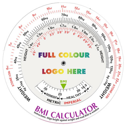 Promotional BMI Calculating Data Discs for Health Campaigns