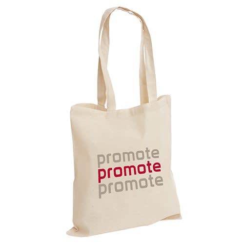 Custom Printed Cotton Tote Bags with a logo printed to 1 side available from Total Merchandise