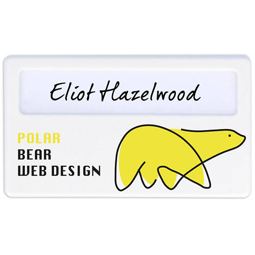 Promotional Recycled Plastic Name Badges for staff