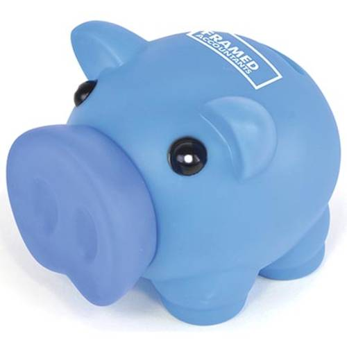 Promotional Petit Plastic Piggy Banks for Campaign Gifts