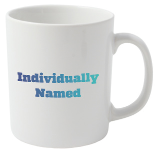 Individually Named Promotional Mugs Printed With Full Colour Logo & Recipient's Name