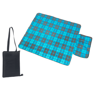 Black/Blue Grey Promotional Meadow Picnic Blanket for Summer Campaigns