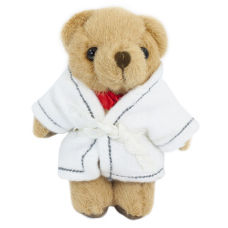 Branded 12.5cm Honey Jointed Dressing Gown Teddy Bears from Total Merchandise