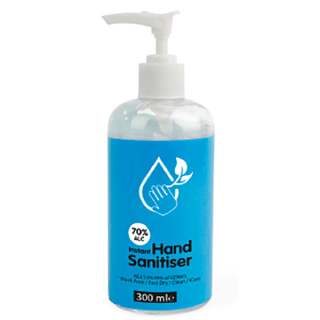 300ml Pump Action Hand Sanitiser With Plain Stock Label From Total Merchandise