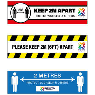 Logo Printed Keep Apart Non Slip Floor Graphics With Your Full Colour Branding