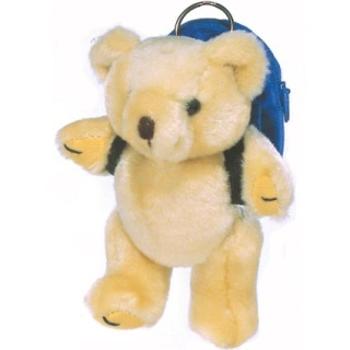Personalised 5 Inch Honey Bear With Rucksack for Charity Giveaways