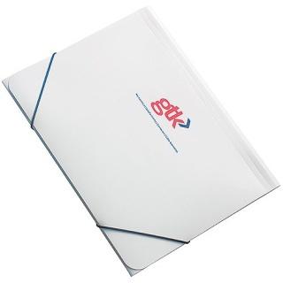 A4 Elasticated Folders in White