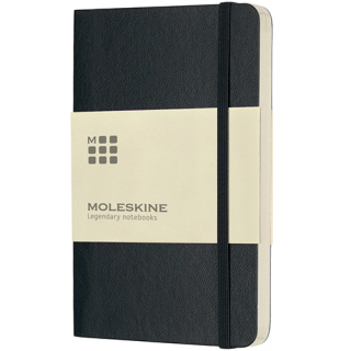 Pocket Moleskine Soft Cover Ruled Notebook in Black