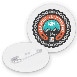 Promotional Recycled Plastic Circle Badges for Giveaways