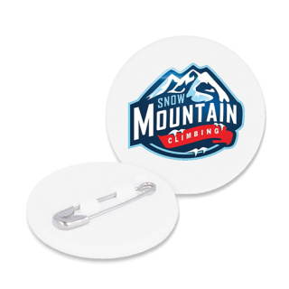 Promotional Recycled Plastic Mini Circle Badges for Marketing