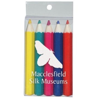 Promotional Pack of 5 Colouring Pencils for childrens giveaways