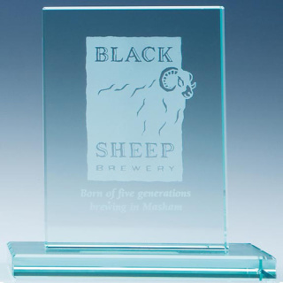 Rectangle Jade Glass Award is Simple and Elegant, Perfect for Company Gifts
