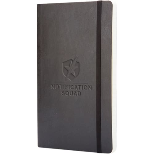 Large Moleskine Soft Cover Ruled Notebook in Black