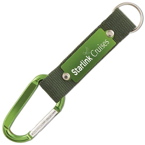 PromotionalEngraved Carabiner Strap Keyrings for events