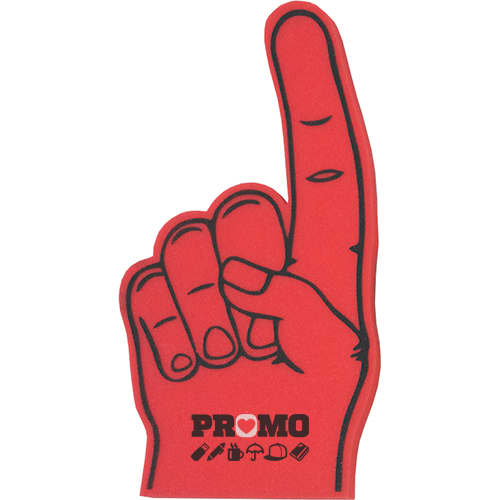 PromotionalFoam Fingers Custom Printed with yourLogo in Red