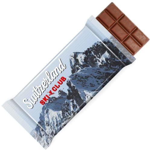 Promotional100g Swiss Milk Chocolate Bars for marketing