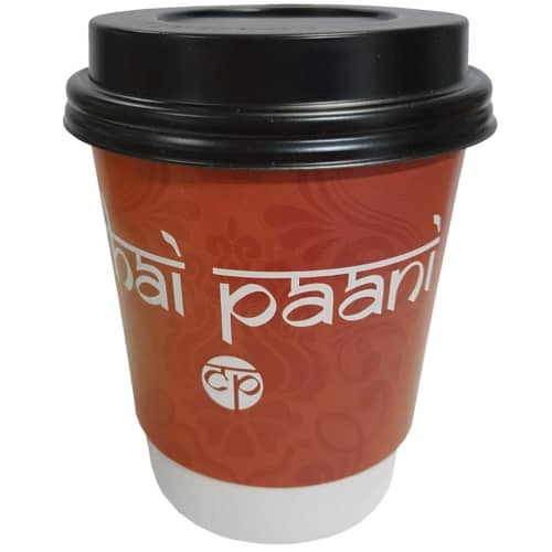 Custom Printed 8oz Double Wall Paper Coffee Cups with Lids