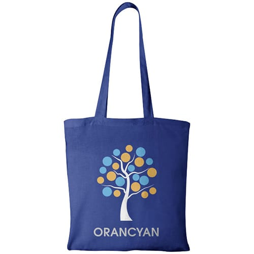 Madras Coloured Cotton Tote Bags in Royal Blue