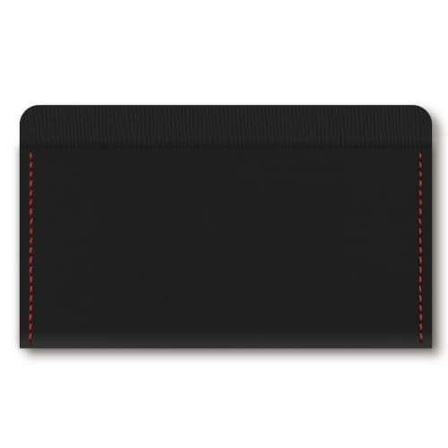 RFID Protected PU Card Holders black with red stiching