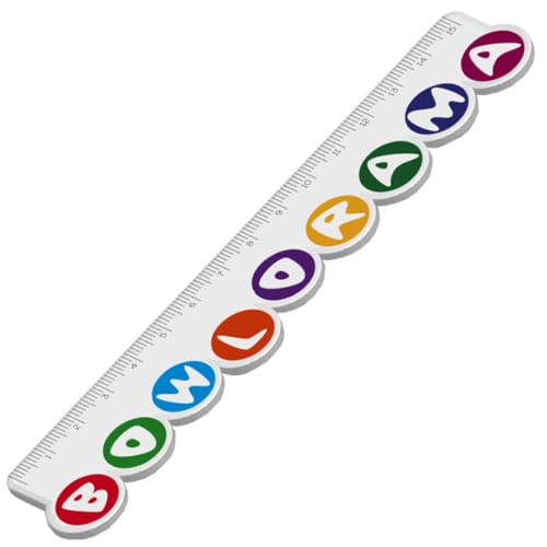 Bespoke Shaped 15cm Rulers for Office Stationery