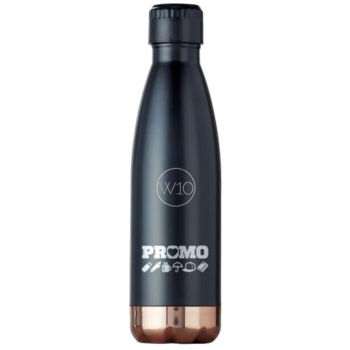 Promotional W10 Bevington Water Bottles in Matt Black