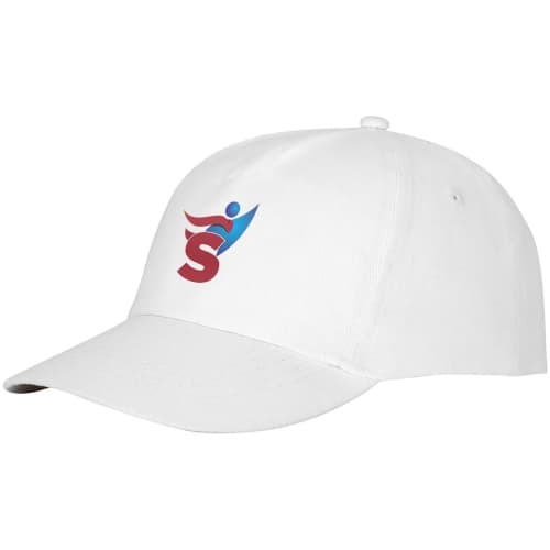 Promotional Feniks 5 Panel Cotton Cap can be customised with your logo or company name