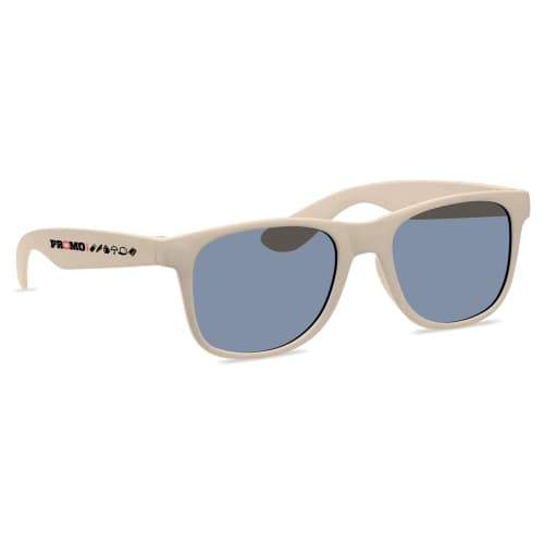 Promotional Bamboo Fibre Sunglasses for Events in Beige
