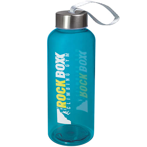 Transparent Blue Promotional Quench Tritan Plastic Bottles for events