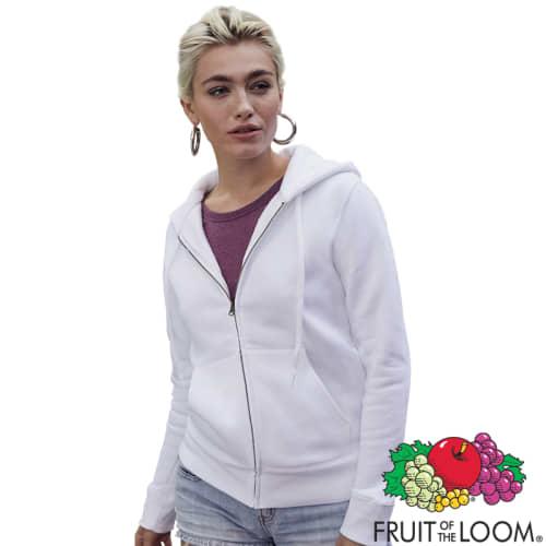 PromotionalFruit of the Loom Premium Lady Fit Zipped Hoodies
